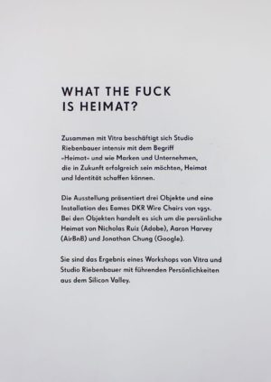 Studio Riebenbauer_Vitra_What The Fuck Is Heimat_Ausstellung_01a